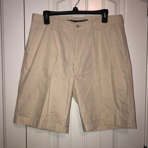 Nautica light khaki shorts, 100% cotton, 33 waist
